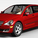 红色奔驰汽车模型