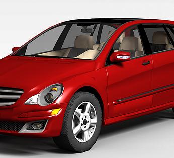 红色奔驰汽车