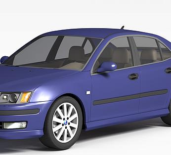 经典蓝色汽车