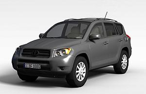 3d灰色豐田汽車模型