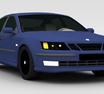 蓝色小型轿车