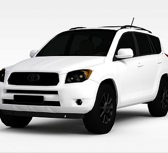白色丰田汽车