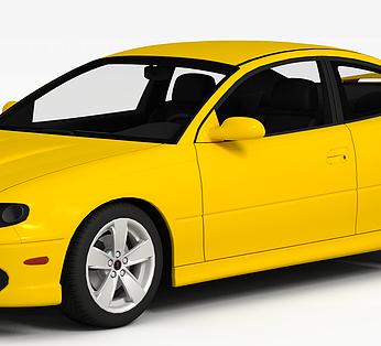 黄色高级汽车