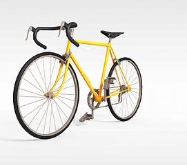 新款黄色<font class='myIsRed'>自行车</font>3d模型