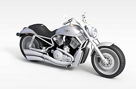 3d白色<font class='myIsRed'>摩托车</font>模型