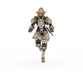 卡通男将军3d模型