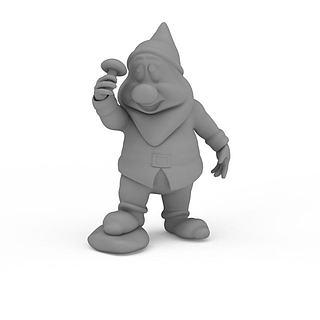 卡通小矮人3d模型