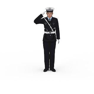 交通警察3d模型