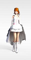 卡通少女3D模型3d模型