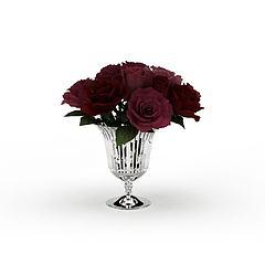 玫瑰花装饰品模型3d模型