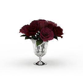 3d玫瑰花装饰品模型