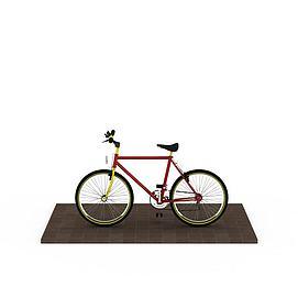 时尚红色<font class='myIsRed'>自行车</font>3d模型