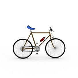 3d灰色<font class='myIsRed'>自行车</font>模型