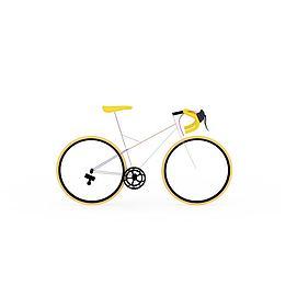 黄色山地车3d模型