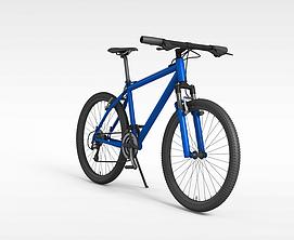 蓝色<font class='myIsRed'>自行车</font>3d模型