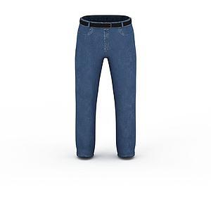 3d藍色<font class='myIsRed'>牛仔褲</font>模型