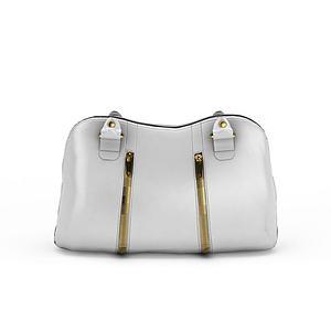 白色女包模型3d模型