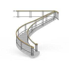 简约灰色<font class='myIsRed'>楼梯</font>3d模型