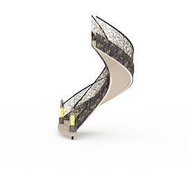 欧式华丽楼梯3d模型