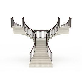 复合式楼梯3d模型