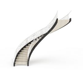 3d华丽<font class='myIsRed'>旋转楼梯</font>模型