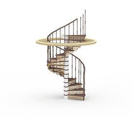 3d复古<font class='myIsRed'>旋转楼梯</font>模型
