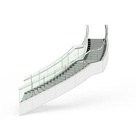 现代弧形<font class='myIsRed'>楼梯</font>3d模型