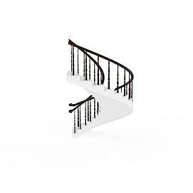 3d现代<font class='myIsRed'>旋转楼梯</font>模型