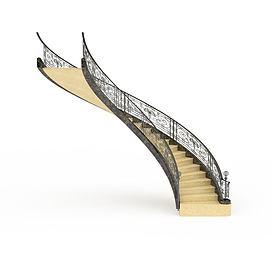 3d欧式<font class='myIsRed'>旋转楼梯</font>模型