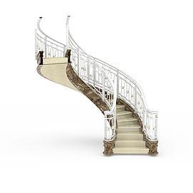 欧式弧形<font class='myIsRed'>楼梯</font>3d模型