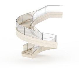 商场<font class='myIsRed'>旋转楼梯</font>3d模型