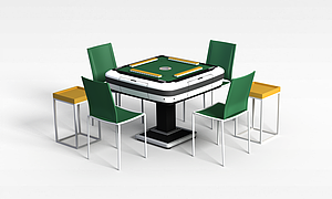 3d自动麻将桌模型
