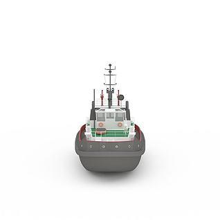 现代民用船3d模型
