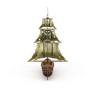 古代木制海盗<font class='myIsRed'>船</font>3d模型