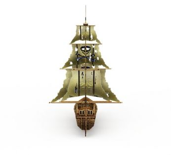 古代木制海盗船