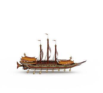 古代大型手划船