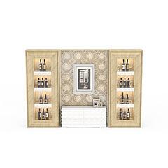 酒柜背景墙模型3d模型