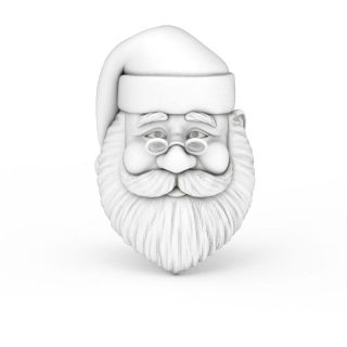 圣诞<font class='myIsRed'>老人</font>白色雕像3d模型