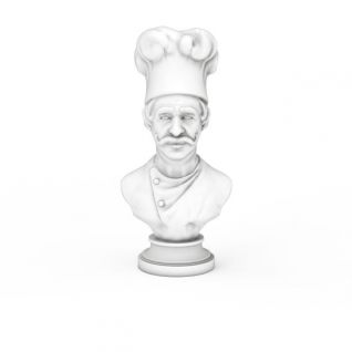 法国高级大厨雕像3d模型