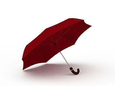 3d<font class='myIsRed'>紅色</font>雨傘免費模型