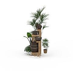 欧式园林景观模型3d模型