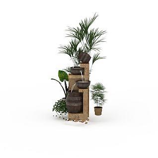 3d园林景观小品模型_园林景观小品3d模型下载图片