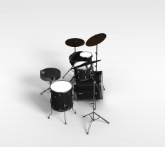 架子鼓模型3d模型