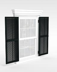 现代推拉窗3D模型3d模型