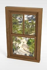 室内窗户3D模型3d模型