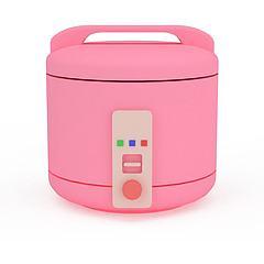 粉色电饭锅模型3d模型