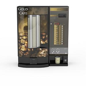 3d自动咖啡机模型