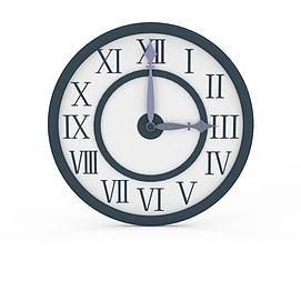 现代钟表3d模型