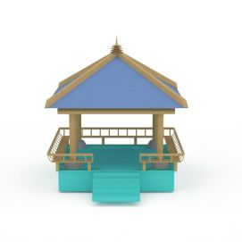 3d中式凉亭模型