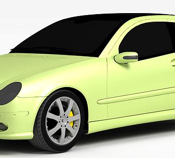 嫩绿色汽车